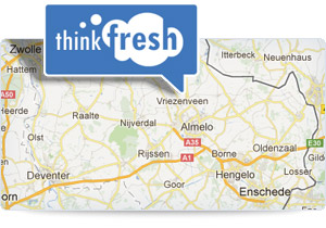 Adres en route naar ThinkFresh